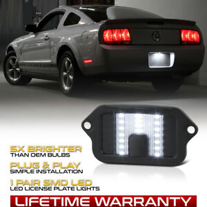 Bright Smd Led License Plate Light Housing Lamp For 2005 2009 Ford Mustang Set