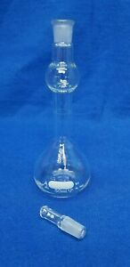 Pyrex Volumetric Flask 50ml Class A Mixing Stopper 9