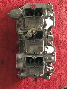 1967 Corvette Tri Power Set Up Intake And carburetors Dated 2 2 1967