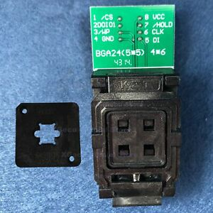 Bga24 To Dip8 Ic Socket adapter adaptor For 8x6 Mm Body Width Bga Spi Flash