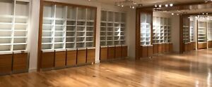 Retail Sales Counter Display Wall Shelving Lighted Fixture