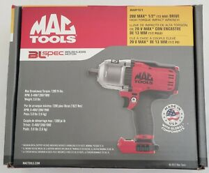 New Mac Tools 20v Max 1 2 Drive High Torque Impact Wrench Bare Tool Bwp151