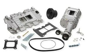 Weiand Supercharger System Roots 142 Series Satin Chevy Small Block Kit 6500 1