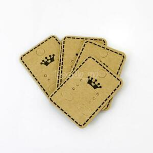 100pcs Hanging Holder Jewelry Earring Display Cardboard Kraft Hang Cards Tag