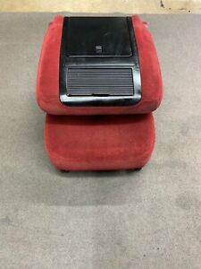 92 96 Ford Bronco F150 97 F250 F350 Jumpseat W Console Red Maroon Oem