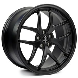 2005 19 Shelby 50th Anniversary Super Snake Black Staggered Forged Wheel Set