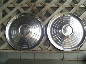 Two 1952 1953 Mercury Hubcaps Montclair Monterey Wheel Covers Antique Vintage