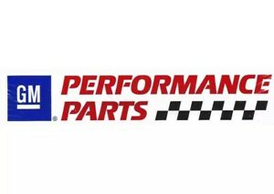 Genuine Gm Performance Parts Sticker Decal Race Car Man Cave 24 Giant 2 Pack