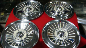 Set Of 4 1957 Ford Hubcaps 14 Fairlane 500 Old School Rat Rod