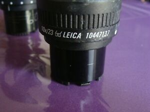 Leica Pair 10x23 Eyepieces Good Condtion 10447137