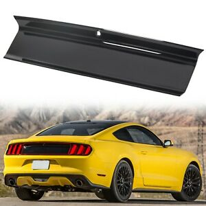 Gloss Black For 2015 2020 Ford Mustang Gt Rear Trunk Decklid Panel Trim Cover Fits Mustang