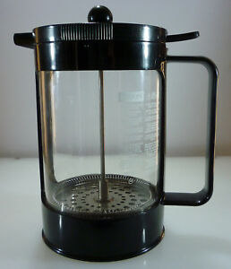 Black Bodum Family Size French Press Coffee Maker one hand operation mint $8.95