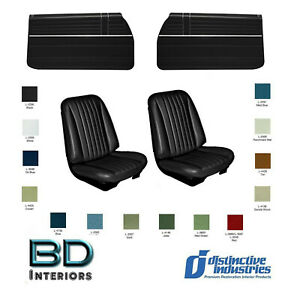1968 Chevy Chevelle Front Bucket Seat Upholstery Door Panel Set Any Color