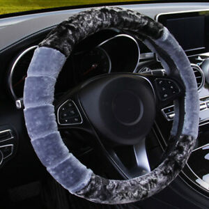 Universa Winter Soft Warm Wool Plush Fuzzy Auto Car Steering Wheel Cover Case
