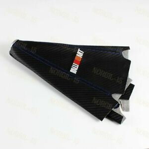 Blue Stitch Shift Knob Shifter Boot Cover Ralliart Carbon Look Pvc Black Mt At