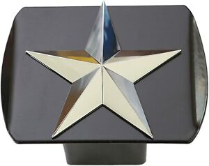 Texas Lone Star 3d Chrome Emblem Trailer Metal Hitch Cover Fits 2 Receivers New