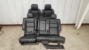 2019 Jeep Grand Cherokee Srt Seats Front Rear Left Right Black Leather Oem