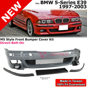 M5 Style Front Bumper Cover Kit For Bmw 5 Series E39 97 03 With Washer Holes
