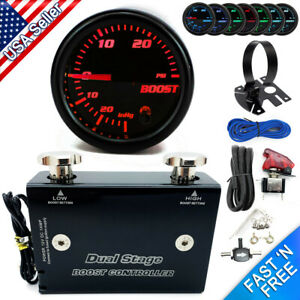 Dual Stage Electronic Boost Controller Kit 0 30 Psi W Boost Gauge Gauge Pod