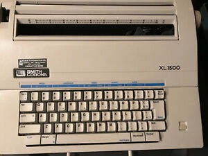 Smith Corona Xl 1500 Portable Electric Typewriter With Error Correct Model 5a