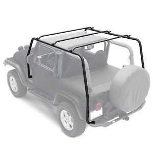Steel Black Textured Roof Rack Fit For 97 06 Jeep Wrangler Tj
