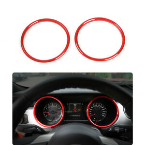 Red Dashboard Ring Cover Trim Decor Bezel For Ford Mustang 15 18 Accessories