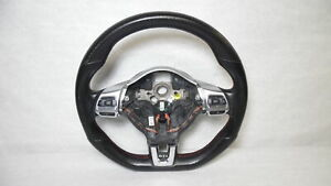2013 Volkswagen Golf Gti Black Leather Steering Wheel W Controls Oem