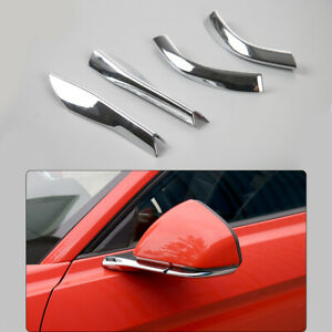 Chrome Car Rearview Mirror Base Cover Trim For Ford Mustang 2015 2018accessories