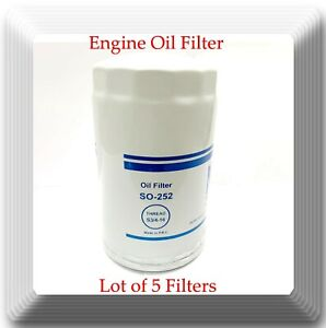 Lot Of 5 Engine Oil Filter So252 Ph3600 Fits Dodge Ford Lincoln Mazda Jeep