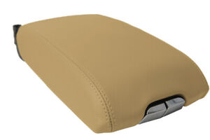 Center Console Lid Armrest Cover Leather For Cadillac Srx 2010 2016 Beige Tan