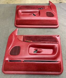 1998 2002 Dodge Ram Power Door Panels Oem From An Extended Cab Red