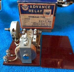 Nos advance Electric Relay 750b Overload Type Relay Vintage 115v 50 60 Cycles