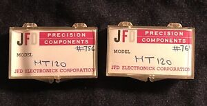 Lot Of 2 Jfd Precision Electronic Components Mt120 s In Cases