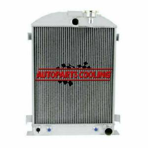 4 Row Radiator For Ford Model A B 40 48 68 Grille Shells Chevy Engine 1928 39 Us