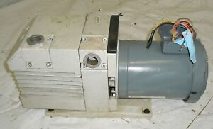 Leybold Trivac Dual Stage Vacuum Pump D16b W Ge 1hp 3 Phase Motor 220v