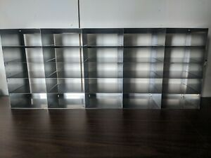 Stainless Steel Lab Freezer Racks For 2 High Boxes Lot Of 3