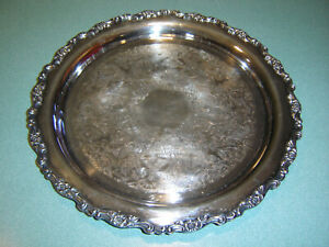 Vintage Oneida Usa Royal Provincial Silver Serving Tray