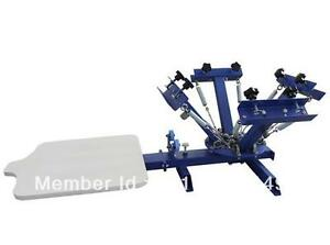 4 Color 1 Station Silk Screen Printing Machine T shirt Printer Press Equipment Q