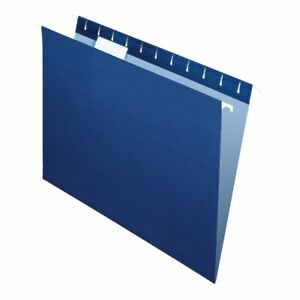 Office Depot Brand 2 tone Hanging File Folders 1 5 Cut Letter Size Navy 25pk