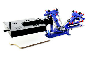 3 Color 1 Station Silk Screen Printing Machine With Flash Dryer Tshirt Press