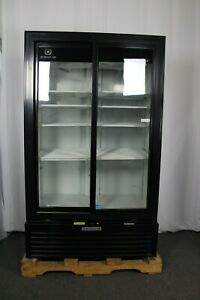 ding Dent Beverage Air Mt49 1 sdb Two Section Refrigerated Merchandiser