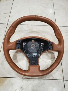 Ferrari F430 Steering Wheel Saddle Tan Oem Used