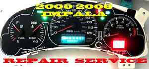 2003 To 2004 Chevrolet Tracker Instrument Cluster Repair Service