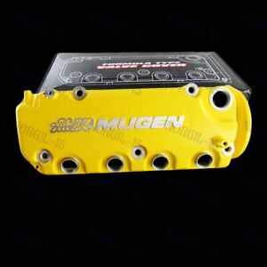 Engine Valve Cover For Honda Civic D16y8 D16y7 Vtec Sohc Yellow Mugen Sty Racing