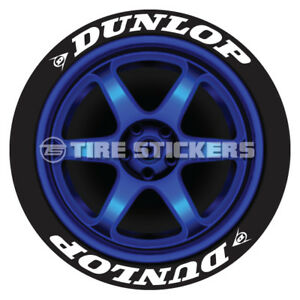 Tire Lettering Dunlop 75 For 19 20 21 Wheels 8 Stickers Low Profile