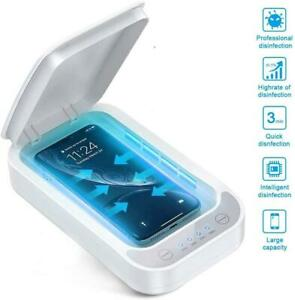 Uv ultraviolet Light Sterilizer Storage Box With Charging For Face Mask Phone