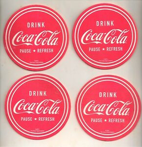 Set of 4 Drink Coca-Cola Coasters