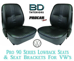 Pro 90 Series Lowback Seats For 1973 79 Vw Volkswagen Beetle Procar 80 1400 51
