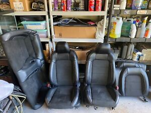 2015 2019 Ford Mustang Shelby Gt350 Complete Set Black Leather suede Seats Oem