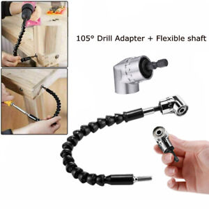 105 Right Angle Drill Attachment Adapter Electric Power 1 4 Flexible Shaft Us